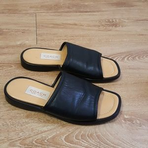 Coach leather slides
